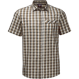Jack Wolfskin Napo River Chemise manches courtes Homme, sand dune checks